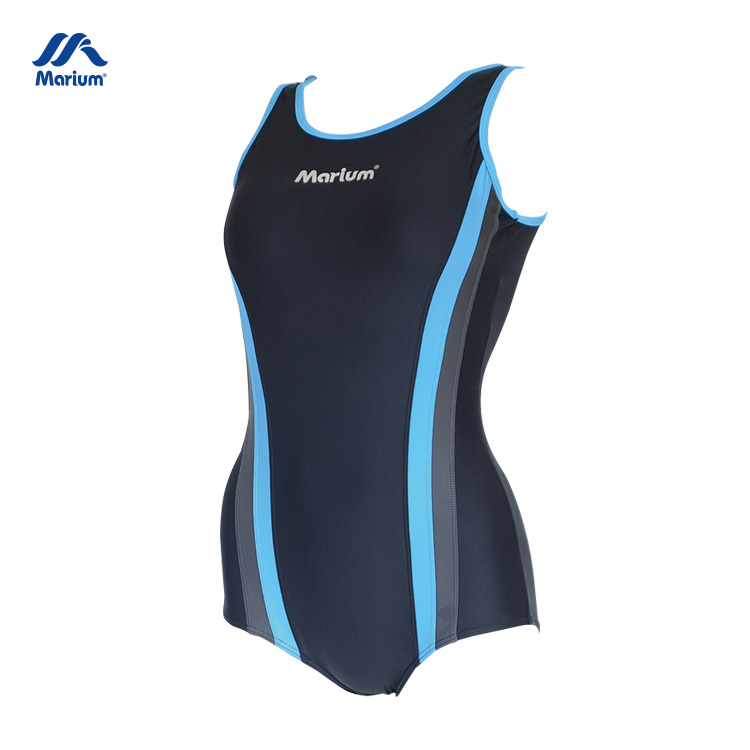 Various Sizes Mature Plain One Piece Swimwear Swimming Suits For Girl