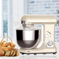 1000W Multi Function Table Top Stand Mixer with 5L glass bowl or 5L stainless steel bowl