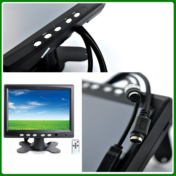 Mini TFT-VGA 4 -wire resistive 7 inch touch screen lcd monitor for car pc
