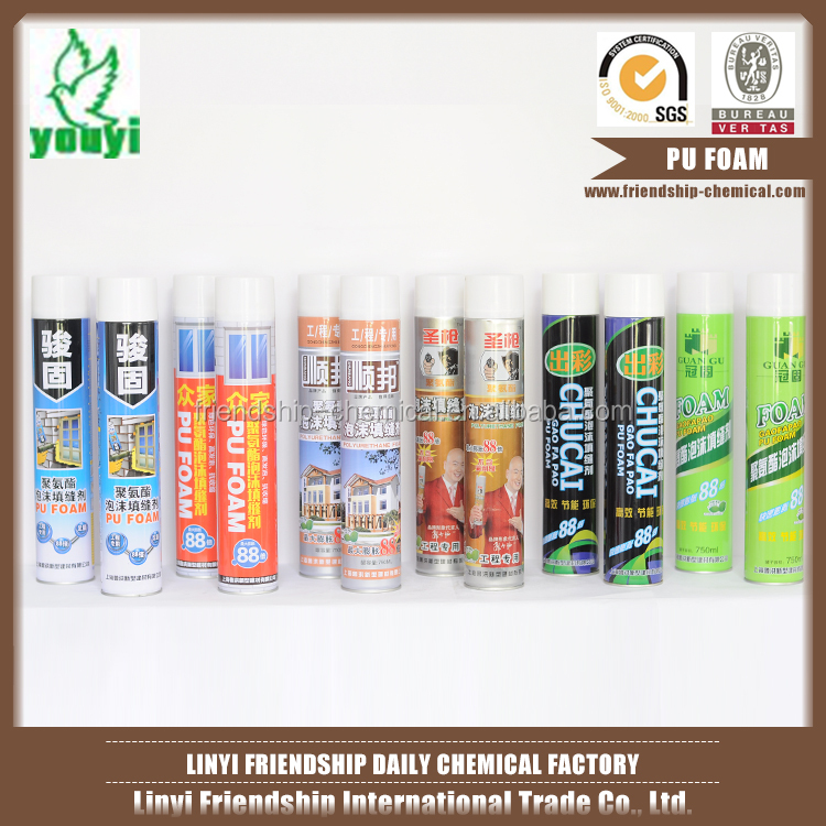 Pu and polyurethane sealant expanding spray pu foam