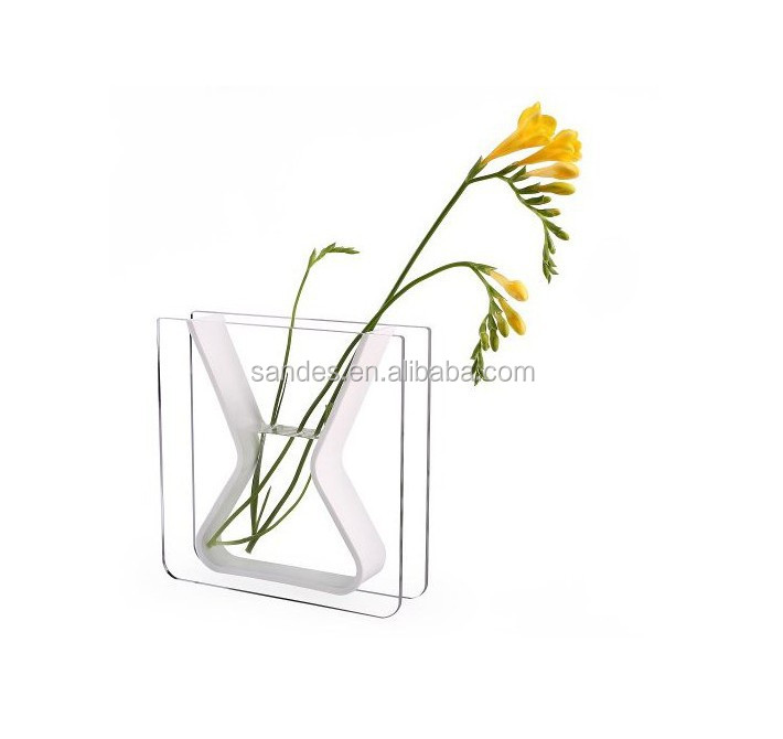 Hot Selling Square Acrylic Glass Vases