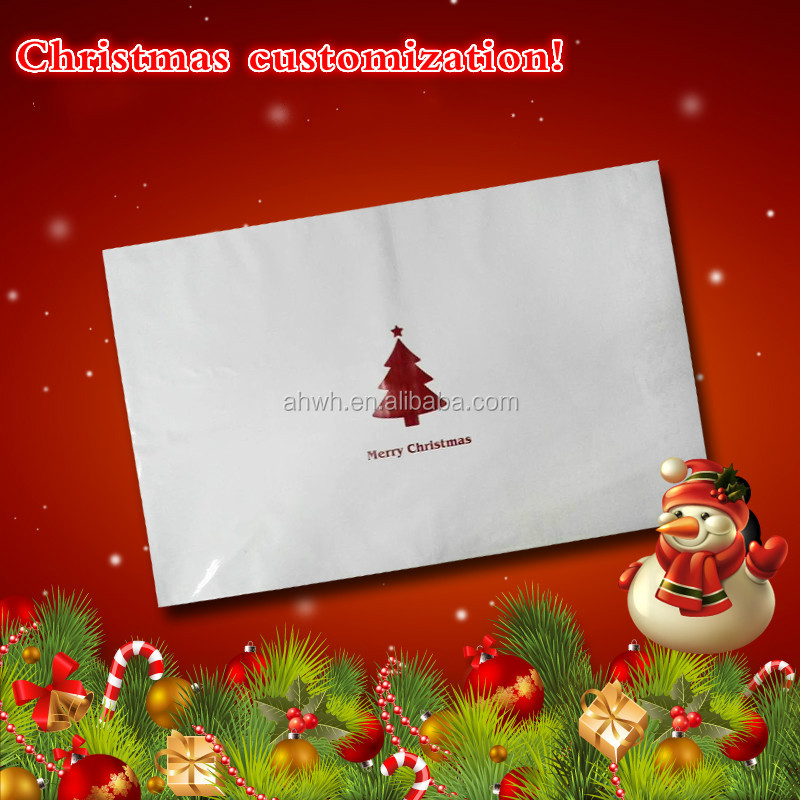 Christmas tree white mailing bag for packing stockings