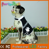Hot sell LED light up waterproof dog clothing