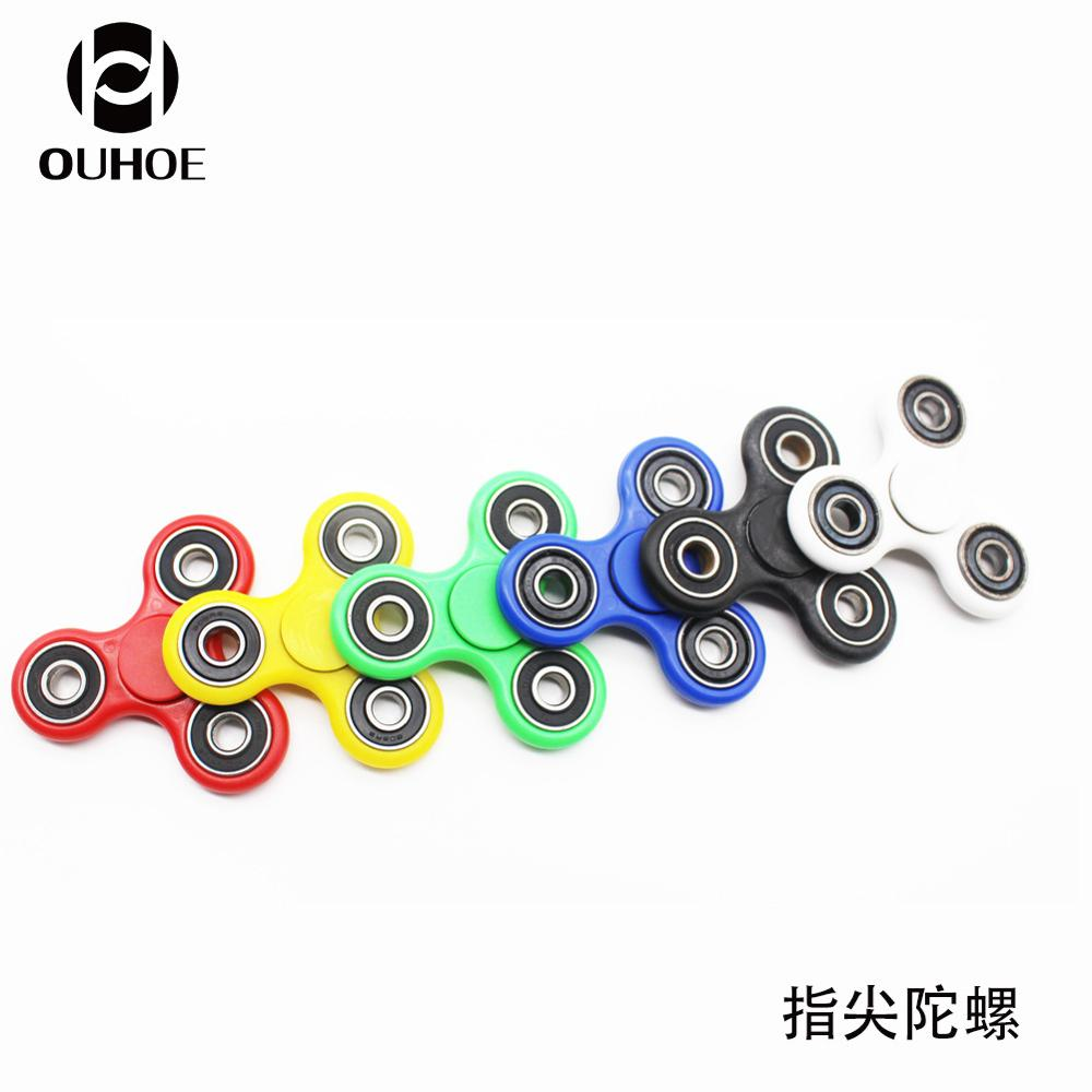 Creative pure color finger tip American Explosion tip of the top of the top of the magic gyroscope fingertips puzzle toys