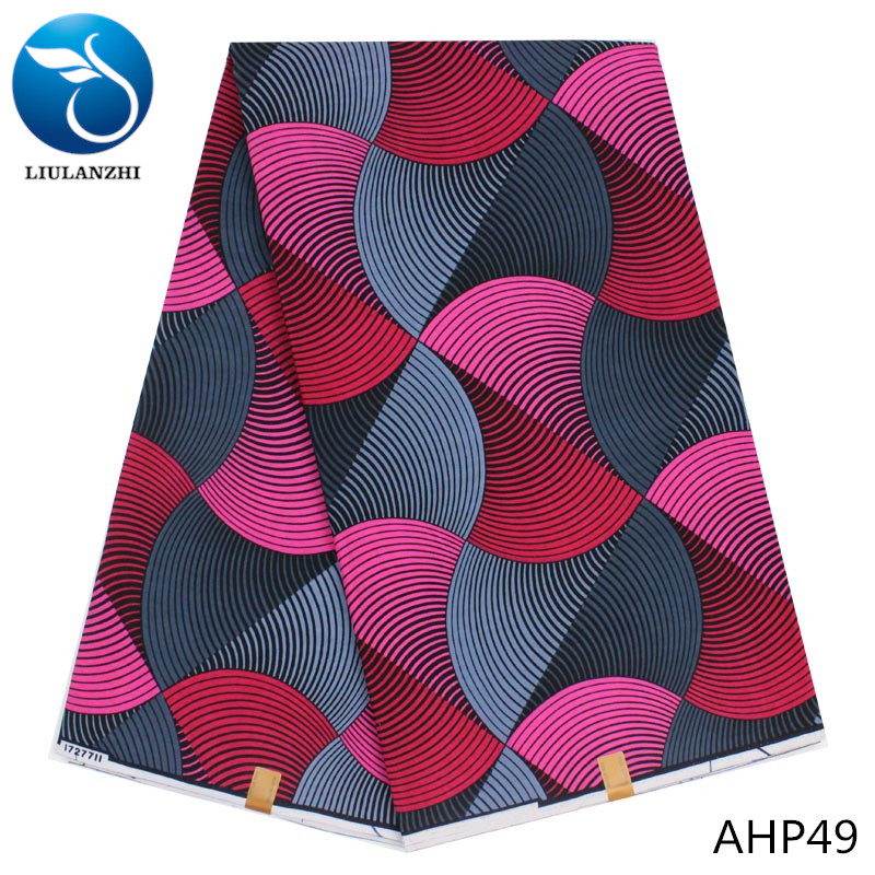 LIULANZHI New arrival african wax real fabric wholesale ankara wax fabric <strong>cotton</strong> for sewing AHP49-AHP58