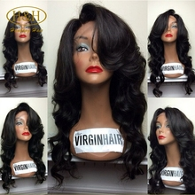 Promotion Price Hot Sale Top Quality No Shedding No Tangle Brazilian Hair Full Lace Wig With Baby Hair