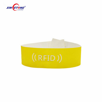 Funny Creative Gifts Events Wristband Waterproof Paper/inkjet Printing RFID Wristband