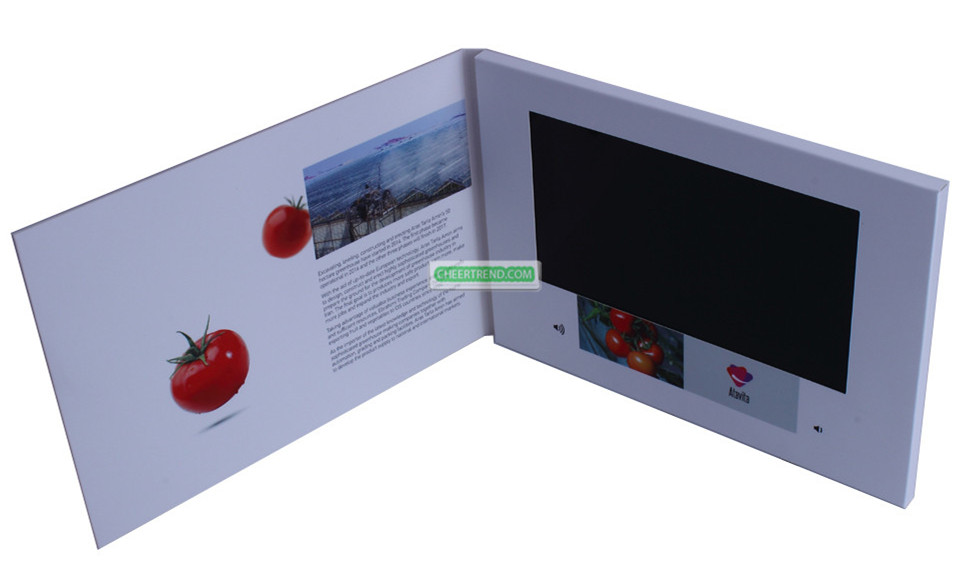 "China Made hot sexy hd lcd mp4 player video card 7"" lcd screen digital brochure"