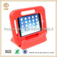 Hot Red case for iPad air with 4 carrying handles and detachable stand