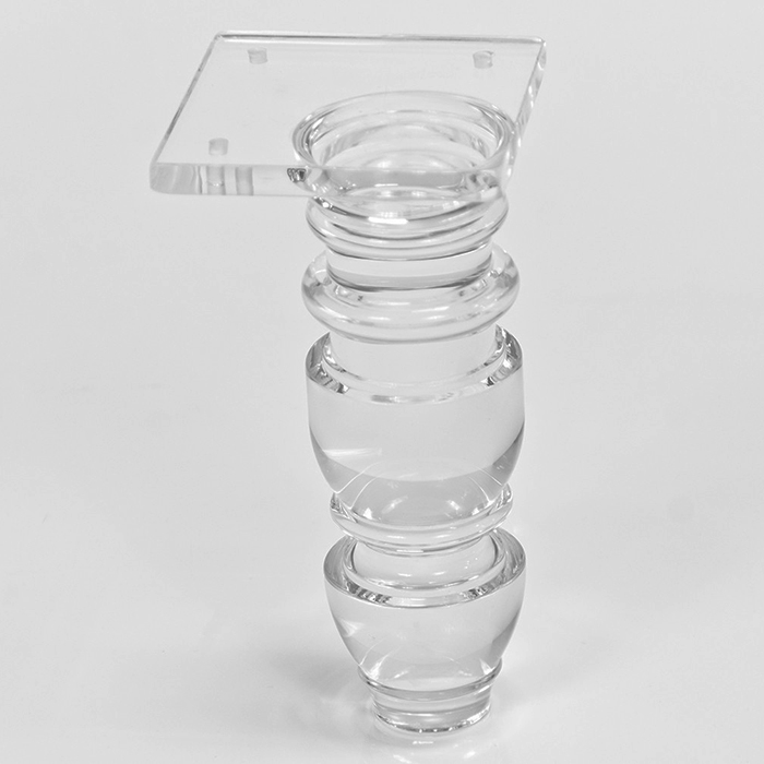 "7"" Clear Acrylic Furniture Legs Lucite Table Legs for home use"