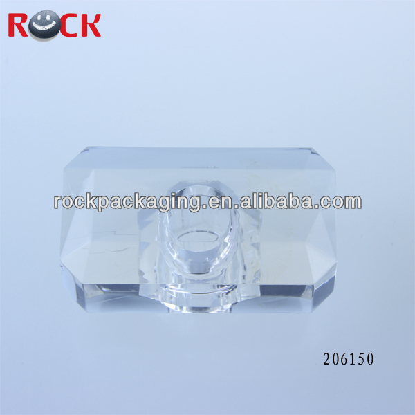 good quality perfume glass bottle lid cover/bottle pump plastic cap