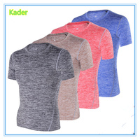 Guangzhou Factory Hot Sale Men Sport Gym slim fit 100% Polyester 160g Stylish Blank T-shirt