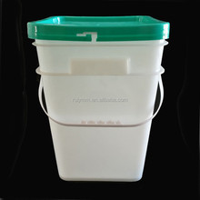 large square plastic barrels with lids for paint containers