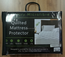 Luxury microfiber quilted mattress protector, mattress cover, fitted mattress protector