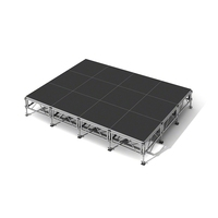 Adjustable Aluminum or Steel Alloy Portable Stage with Ladder Mobile Stage