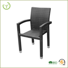 Outdoor armrest PE wicker french bistro rattan chairs