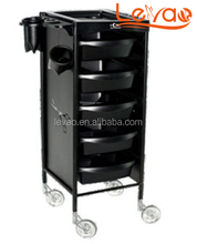 Levao Black Professional Hair Salon trolley NEW Coloring Hair Salon Trolley