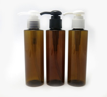 5oz amber lotion plastic pump bottle for shampoo