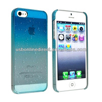 3D droprains hot selling mobile phone case for iphone 5c cases clear case blue color