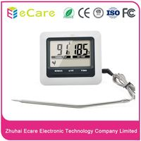 Digital stainless steel mini lcd beef food thermometer