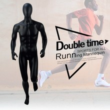Running muscle male moving football sports mannequin
