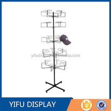 Multilayer Metal Cap Hat Display Stand, Fedora Hat Rack For Retail Store