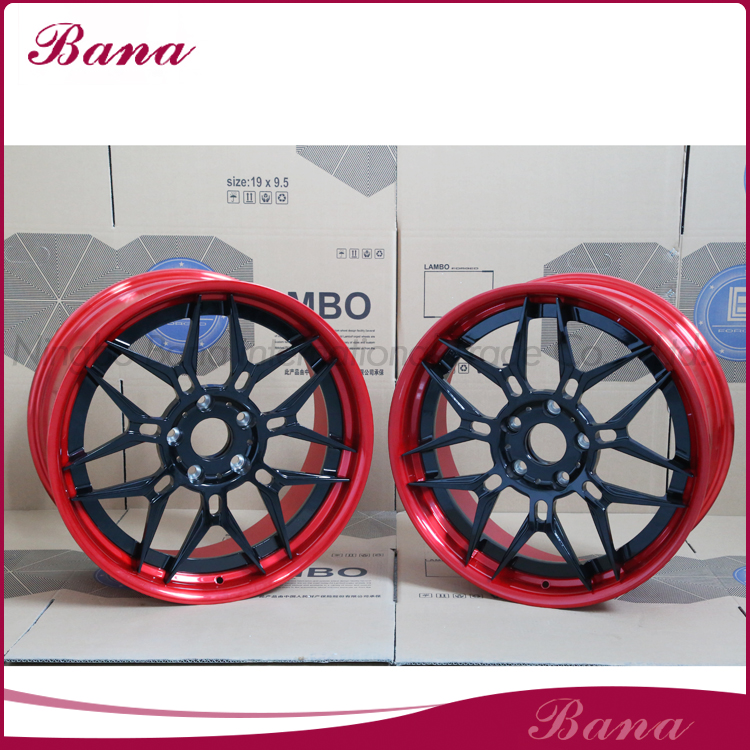 Fully stocked red black emr alloy wheels wheel hub car alloy wheels in 16 inch