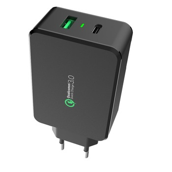 GS authentication pass USB Charger,usb output power wall QC3.0 Charger,QC3.0 Type-c professional cell phone charger kit