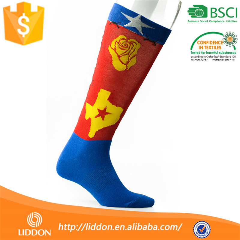 Wholesale Knee high Colored Cotton Man Lanesboro Sport Dress Football Tube Soccer Sock From China Sock Factory