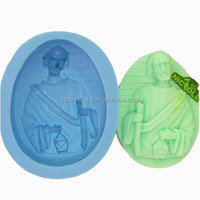 FDA ceritfied molds for christmas figures new handmade silicone soap mould Nicole R0805