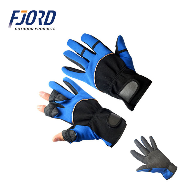 FJORD Fishing tool high quality and cheap leak out the finger waterproof heated fishing gloves winter