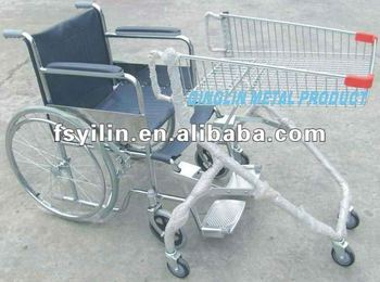 SCD01 metal chrome plated disabled shopping trolley