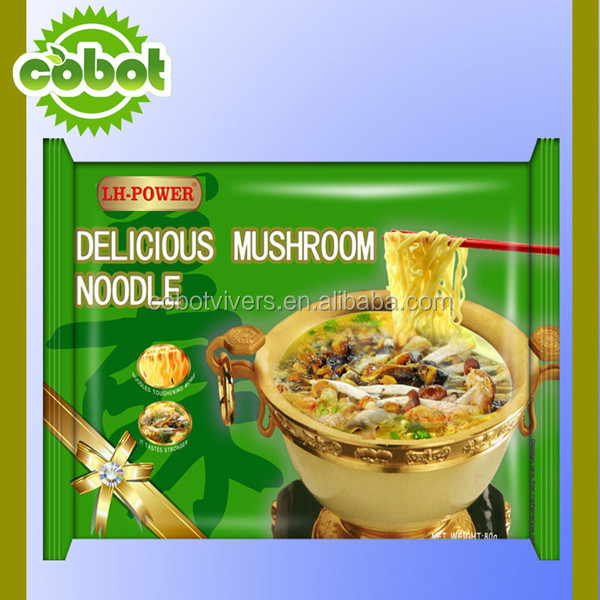 different flavors instant noodle cake with seasoning