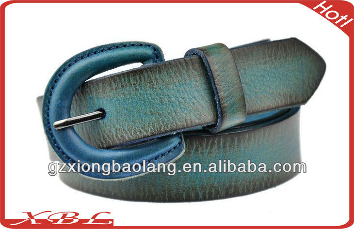 2016 Fashion color jeans decoration leather belts for lady