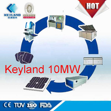 China Keyland 1MW 5MW10MW Photovoltaic Solar Panel Production Line For Sale Solar Module Manufacturing Project