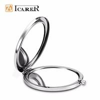 ICARER Customized Embossed Logo Elegant Cosmetic Hand Mirror