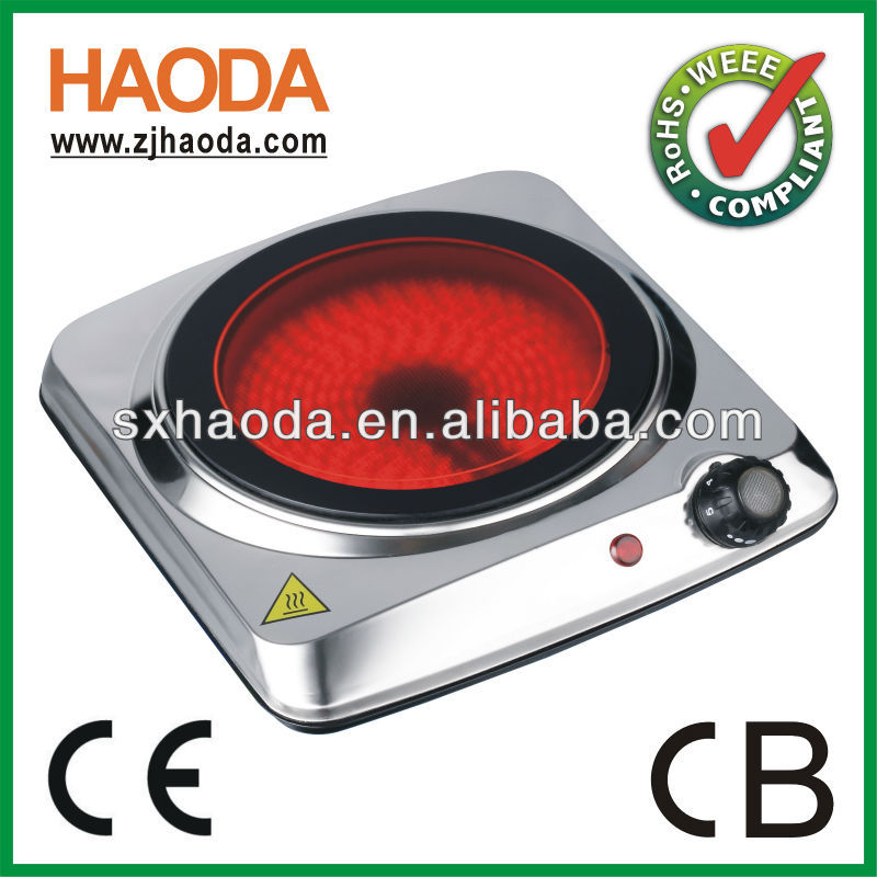 High quality electric single ceramic infrared hot plate
