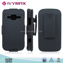 Cheap cell phone accessories wholesale holster combo hard case for zte z730