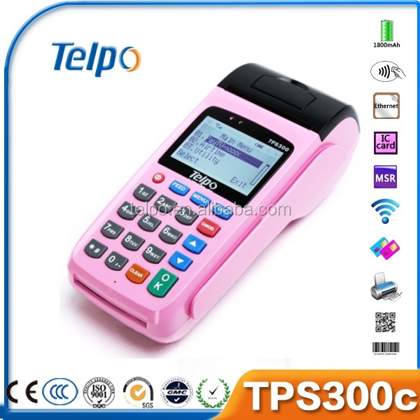 China TPS300b c language rfid credit card read lottery pos terminal s