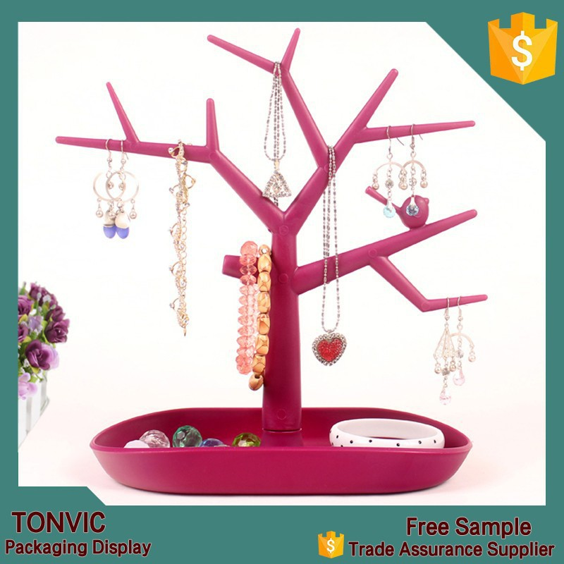 2015 new multifunctional tree branch shape jewelry display stand