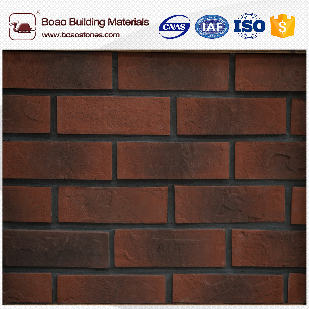 With natural brick texture vivid and 3d effect brick effect cladding