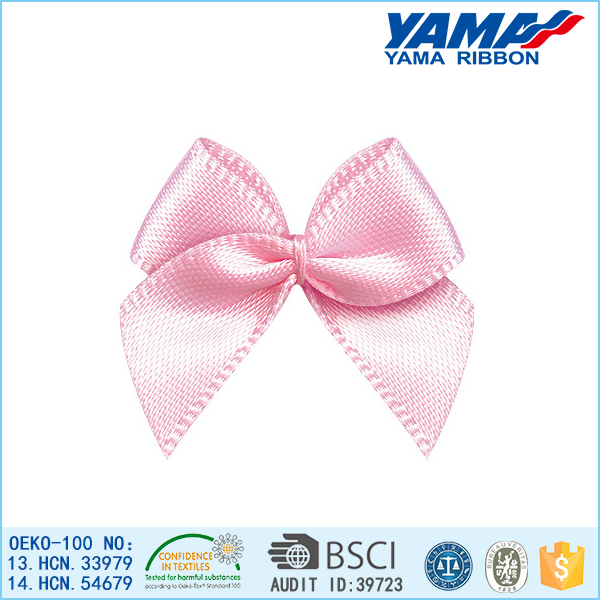 yama handmade wedding mini pink satin ribbon bow