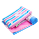 Color stripe 80 Polyester 20 Polyamide Microfiber Beach Towel Wholesale with Bag