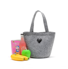 2017 new design high quality ladies felt handbag/shopping bag,wholesale large capacity felt tote bag