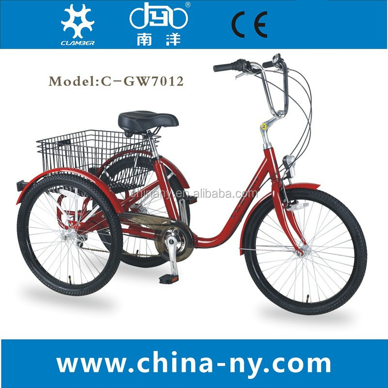 24 inch 3 wheel adult street tricycle hot selling/Cheap cargo bike