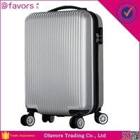 Hot selling abs/pc travel luggage bag plastic cabin size suitcase good quaity eminent fashion abs pc trolley luggage in stock
