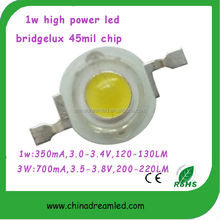 top sales 140 degree yellow orange 1w high power led