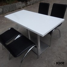 Easy clean modern stone fast food restaurant table and chair