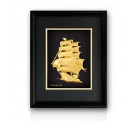 24k Gold Plated Sail Ship