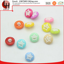 whosesale children's cute clothing garment accessories smiling star shank plastic handmade Combined button